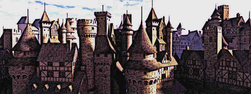 Medieval Castles Roof Tops