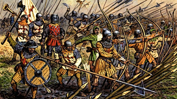 A Medieval army attacks