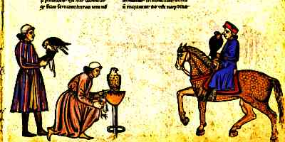 Falconry was a popular Medieval Castle Entertainment