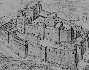 medieval concentric castle in Europe