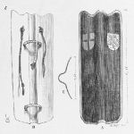 Back and Front of Pavise Shield , The Pavise shield offered excellent cover for medieval archers