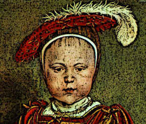 Royal Child in Medieval Hat