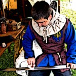 Medieval Squire and Knights Sword